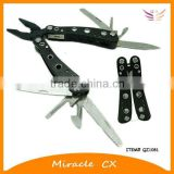 Black handle with 8 shining holes stainless steel multi tool