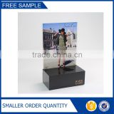 Clear Acrylic A4 Poster Display Stand Plus Black Acrylic Cosmetics Display Stand                                                                         Quality Choice