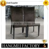High-grade Steel chair, Brown color,hotel wrap cloth chair
