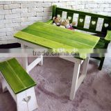 Best price dining table chair wooden furniture,Field solid wood bench chair table
