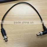 Custom product Locking Ring DC 5.5x2.1 0r 5.5x2.5mm DC Extension with 1185 18AWG cable Wire Harness