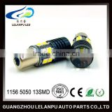 auto led lamp 1156 car led light 1156/1157 bay15d ba15s 5050 13SMD auto turn light reading lamp