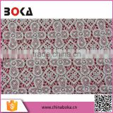 Chinese factory custom pattern water soluble lace for lady dress