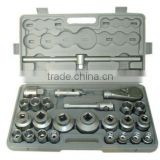 "3/4"" 1"" drive 26pcs gray blow molding box pneumatic socket wrench set"