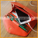 Newest Design Fashion Trendy Multifunctions Leather Wallet Women,Travel Document Passport Holder,Phone Purse                                                                                         Most Popular