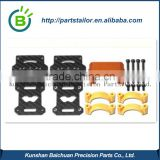 BCK0527 Motor Mount 25MM Orange Carbon Fiber clamps