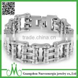 Good Quality Bicycle Link Chain Stainless Steel Jewelry Mens Bracelet Wide Silver Bike Charm Bracelet