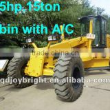 15ton Hydraulic self-propelled motor grader,Torque converter and power-shift gearbox,US engine 165hp,ripper,front blade