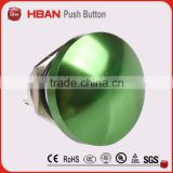 2014 new type green Mushroom head,pin terminal, momentary push button switch CE ROHS approved(16mm)