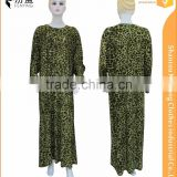 95%polyester 5%spend BOBI casual islamic women maxi dress long sleeve styling design gown