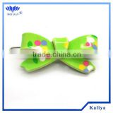 GREEN BOW PLASTIC METAL HAIR CLIP FOR GIRL , HOT SELL 2013
