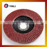 China supplier Agreessive 4'' 100*16 Zirconia Alumina Abrasive Flap Disc for polishing stainless steel