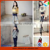 2016 Manufacturer new fashion boutique child clothes for 2-6T girl wear kid clothes set wholesale spring baby clothes(ulikGC001)