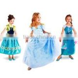 Kids girl realistic Cinderella dress for halloween costume wholesale kids princess dress (Ulik-A0134)