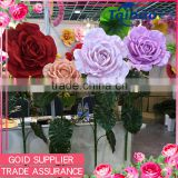 Wholesale wedding and event decoration pink rose giant artificial flower head                                                                         Quality Choice