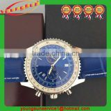 Hot Sale High Quality Novelty Item Men Blue Leather Watch