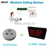 Top Popular NEW Restaurant Equipment Table Bell With Panel Receiver Wireless Buzzer Calling System