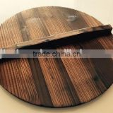 Chinese Fir Carbonization Wood Pot Lid
