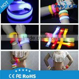 led light silicon wristband, Glow bracelet, armband Glow in the dark