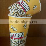 single wall disposable cold drinking eco-friendly taobao custom disposable paper popcorn cup for fast food container