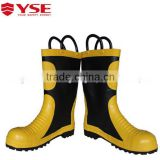 Fire proof rubber fire shoes with steel toe,fire proof safety shoes