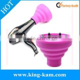 Foldable Silicone bulk hair accessories supplier vintage hair accessories Travel Hair Dryer With Diffuser
