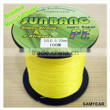 Zhejiang Outdoor Wholesale Fishing Tackle Japanese PE Fishing Nano Braided Line 4 Strands 20lb 1000m Fluo