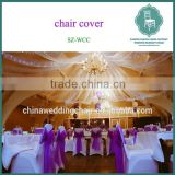 wholesale ruffled spandex chair cover with sashes for wedding banquet