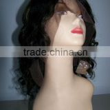 10 inches Body wave #1/27 high lighted 100% Chinese remy human hair lace wigs accept customer order