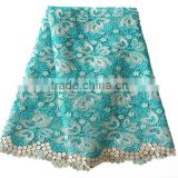 Hangzhou high grade retail price nigerian fabric lace cord embroidery fabric unique lace