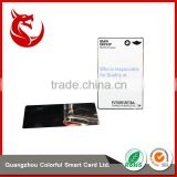 Top quality laser engrave stainless steel blank metal card                                                                                                         Supplier's Choice