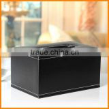 High-grade leather household napkin tissue box pumping tray black 200 pumping pumping paper box creativity European shipping