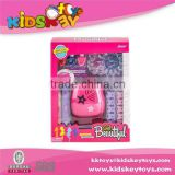 Kids cosmetic toy with gel nail polishes, nail polish for little girls cosmetic set