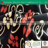 Hot sale beautiful flowers microfiber digital printing fabric