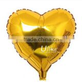 2014 golden foil balloons letter shaped heart inflatable helium letter balloons christmas decorations made in china