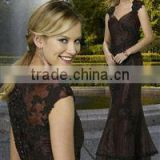 Off-shoulder Elegant Sweetheart Black Lace Mother of The Bride Dress XYY-wy021-2