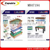 MDF 8 in 1 soccer table (tennis,shuffle,bowling,hockey,soccer,back gammon,chess&billiard)