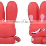 OEM Cute Big Head Cartoon Rabbit PVC Vinyl Toys/Custom made Cartoon Animal PVC Vinyl Figures/OEM PVC Vinyl Figure Toys Maker
