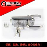 10-12 mm double glass door lock/10-12mm glass swing sliding door lock/201 stainless steel glass door handle lock