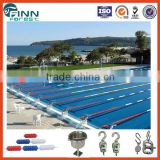 Water sport swim competition equipment have red, green, blue white color 20cm lane ropes for swimming pools