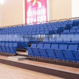sport Entertainment seatway retractable indoor tribune telescopic folding plastic seating flex grandstand. portable bleacher