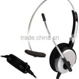 Monaural noise cancelling call center usb headset with QD coil cable and mute                                                                         Quality Choice