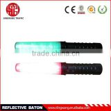 Red or green police traffic baton