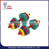 10kg 15kg 20kg 25kg 30kg Colourful gym fitness vinyl dip neoprene dumbbell set