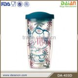 Hot Sale double wall clear 16oz acrylic tumbler with straw