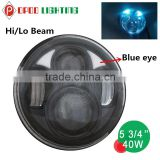 Factory Price c ree led motorcycle headlight,40W Hi Lo 5 3/4'' c ree led motorcycle headlight