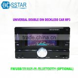 universal 2din double din car stereo cassette audio mp3 music player with bluetooth usb,sd,aux-in