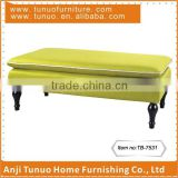 antique upholstered wooden bench for living room