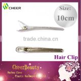 plastic mental hair clip HC018/ clear clip hair products/baby hair clips wholesale