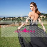 New Fashion Mermaid Sexy Backless Long Chiffon Beaded Evening Dress 2015 OM001 vestido de madrinha